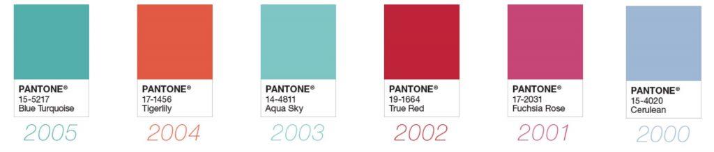 cores do ano pantone