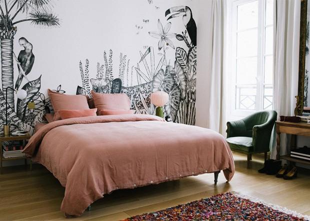 Decoração de quarto com cordel